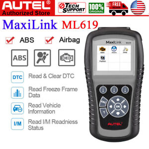 Autel Maxilink Ml619 Obd2 Diagnostic Scanner Code Reader Abs Srs Airbag As Al619