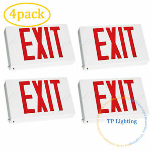 4pack Red Led Emergency Exit Light Sign Modern Battery Backup Ul924 Fire
