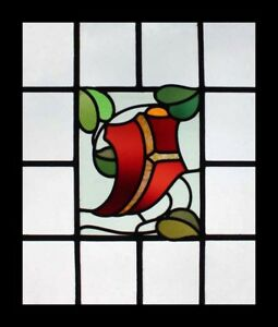 Stunning English Arts Crafts Antique Stained Glass Window