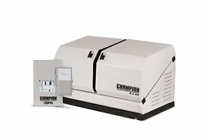 Champion 8 5kw 439cc Lp ng Standby Generator W 50amp Transfer Switch 100174