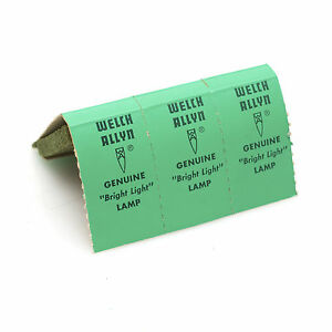 Welch Allyn No 9 Lamp Bulb Pack Of 3