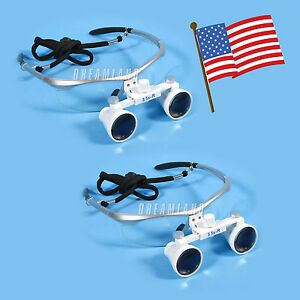 2 3 5x420mm Surgical Medical Binocular Magnifier Loupes Optical Glasses Sk silve