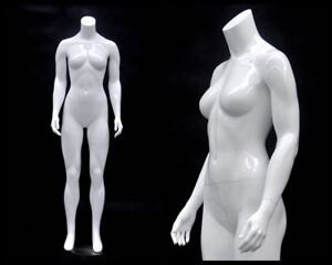 Female Fiberglass Headless Petite Mannequin Body Dress Form md gpx01bw1