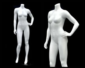 Female Fiberglass Headless Petite Mannequin Body Dress Form md gpx03bw1