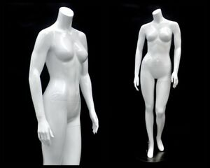 Female Fiberglass Headless Petite Mannequin Body Dress Form md gpx05bw1