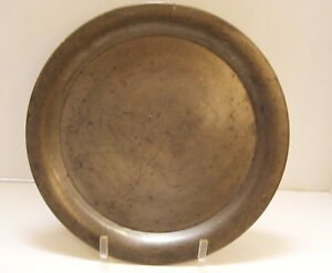 Antique Pewter Charger 14 Inches W S Co 217 14