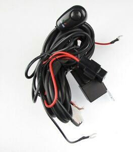 Universal Wiring Kit Driving Lamps Fog Light Wiring Harness fuse switch relay