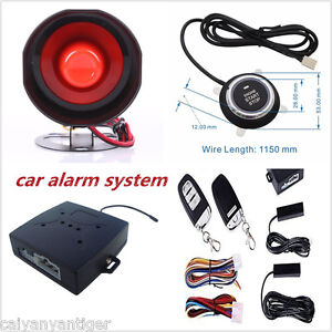 Car Alarm System With Pke passive Keyless Entry Remote Engine Start Push Button