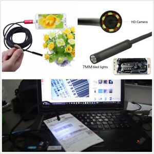 7mm 10m Endoscope Hd Android Borescope Usb Car Engine Pipeline Inspection Camera