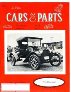 Cars Parts October 1973 1946 57 Hudson Story 1916 Chevrolet 490 H Cover Car