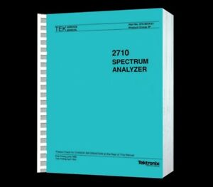 Tektronix 2710 Spectrum Analyzer Hi Resolution Paper Reprinted Service Manual cd