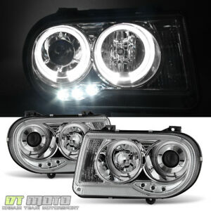 2005 2010 Chrysler 300c Dual Halo Projector Led Headlights Headlamps Left Right