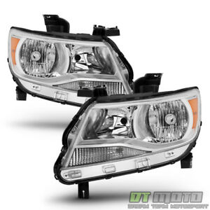 Chrome 2015 2016 2017 Chevy Colorado Headlights Headlamps Replacement Left Right