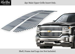 For 2016 2018 Chevy Silverado 1500 Reg Model Stainless Steel Billet Grille
