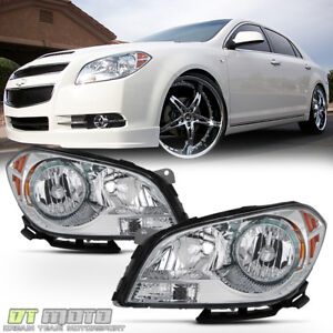 2008 2012 Chevy Malibu Headlights Factory Style Headlamps Replacement Left right