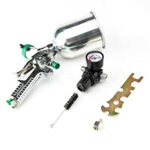 Hvlp Spray Gun 2 5mm Auto Paint Gravity Feed Gauge Metal Flake Primer Nozzle