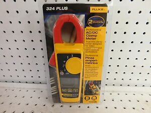 Fluke 324 Plus Digital Clamp Meter Multimeter 600v With Temp Probe new 10