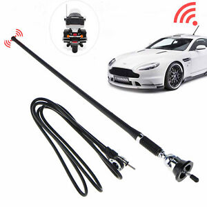 16 Universal Mount Swivel Base Car Radio Am fm Amplified Signal Aerial Antenna