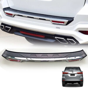 Chrome Rear Bumper Guard Tailgate Cover Fit For Toyota Fortuner Sw4 2015 16 17