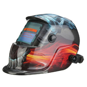 Modern Auto Darkening Welding Helmet Mask Uv ir Filter Shade Devil Pattern E