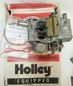 Return Item 600 Carb Holley 4160 Hp 4 Barrel Carburetor 0 80457s Manual Choke