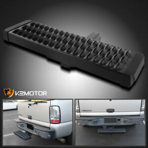 Rear Hitch Step Bar Bumper Guard Protection Aluminum For 2 Receiver Truck Suv