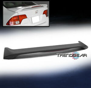 2006 2010 Honda Civic 4dr Sedan Si Style Abs Trunk Lip Spoiler W Led Brake Light