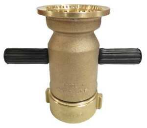 Elkhart Brass J Industrial Fire Hose Nozzle 2 1 2 In