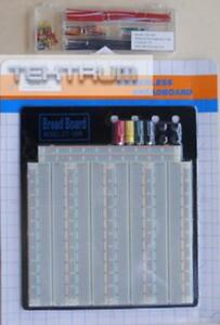 Tektrum Solderless Experiment Plug in Breadboard Kit With Pre formed Solid