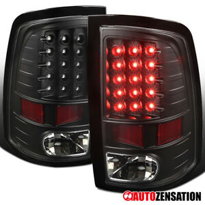 For 2009 2018 Dodge Ram 1500 Black Led Tail Lights Brake Reverse Lamps