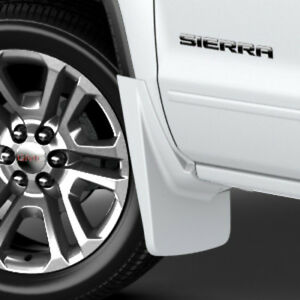 14 18 Gmc Sierra Splash Guards Mud Flaps Front Summit White Gm 22902397