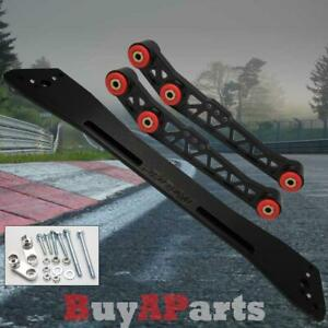 Black Rear Lower Control Arm Subframe Brace Kit For 1994 2001 Acura Integra Dc2