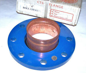 Cts 4 Rolled Groove Hp Copper Companion 9 Od Flange Adapter 8 3 4 Bolt Holes
