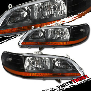 For 1998 2002 Honda Accord Black Jdm Style Headlights Pair 1999 2000 2001
