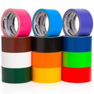 Multi Colored Duct Tape Variety Pack 12 Colors 10 Yards X 2 Inch Rolls