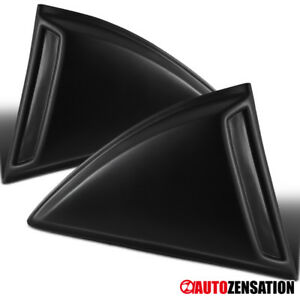 10 15 Chevy Camaro Ls Zl1 Black Hood Scoope Cover Pp Kit Quarter Window Louvers