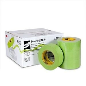 3m 26340 2 Scotch Performance Masking Tape 233 Green 3 Rolls Made In Usa