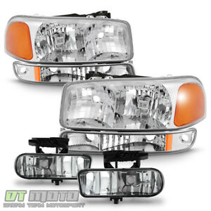 2000 2006 Gmc Yukon Xl 1999 2002 Sierra 1500 Headlights Bumper Lamps Fog Lights