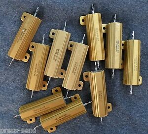 Aluminum Precision 10 25 And 50 Watt Wire Wound Resistors New And Refurbished