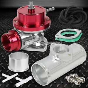 Universal Billet Anodized Type s Turbo Blow Off Valve Bov 2 5 Flange Pipe Red