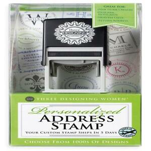 Three Designing Women Custom Designer Address Self inking Stamp