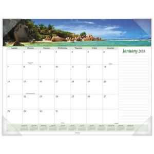At a glance Monthly Desk Pad Calendar January 2018 December 2018 22 X