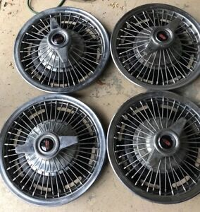 1965 Oldsmobile F85 Spinner Wire Hubcap Wheel Cover Set Of 4