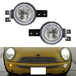 Clear Lens Full Led Halo Turn Signal Light Assembly For Mini Cooper R50 R52 R53