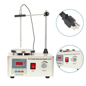 New Magnetic Stirrer Hotplate Digital Magnetic Mixer Heating Control 110v 50hz