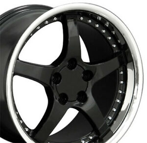 18x9 5 18x10 5 Black C5 Corvette Style Deep Wheels Set Of 4 Rims Fit Camaro
