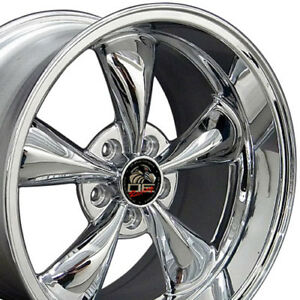 18 9 10 Chrome Bullitt Bullet Style Wheels Rims Fit Mustang Gt 94 04