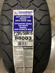 2 New 205 50 15 Bfgoodrich G Force T A Drag Radial Tires