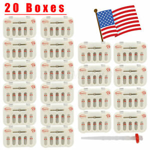 20kits Dental Fiber Post Resin High intensity Screw Thread Quartz Drills A red