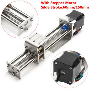 Ball Screw Linear Slide Guide 100 300mm Z Axis Actuator Stepper Motor Damper Cnc